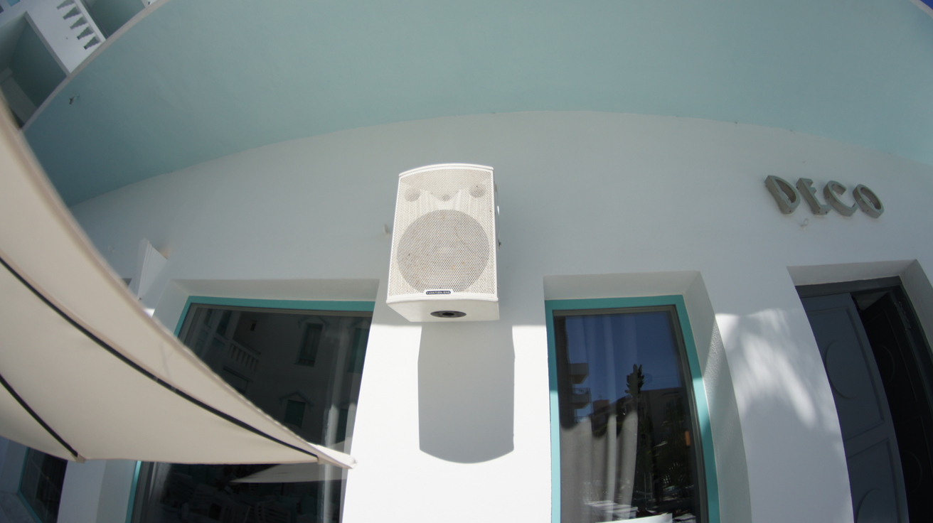 F101 speakers installed at Hotel Es Vivre Ibiza