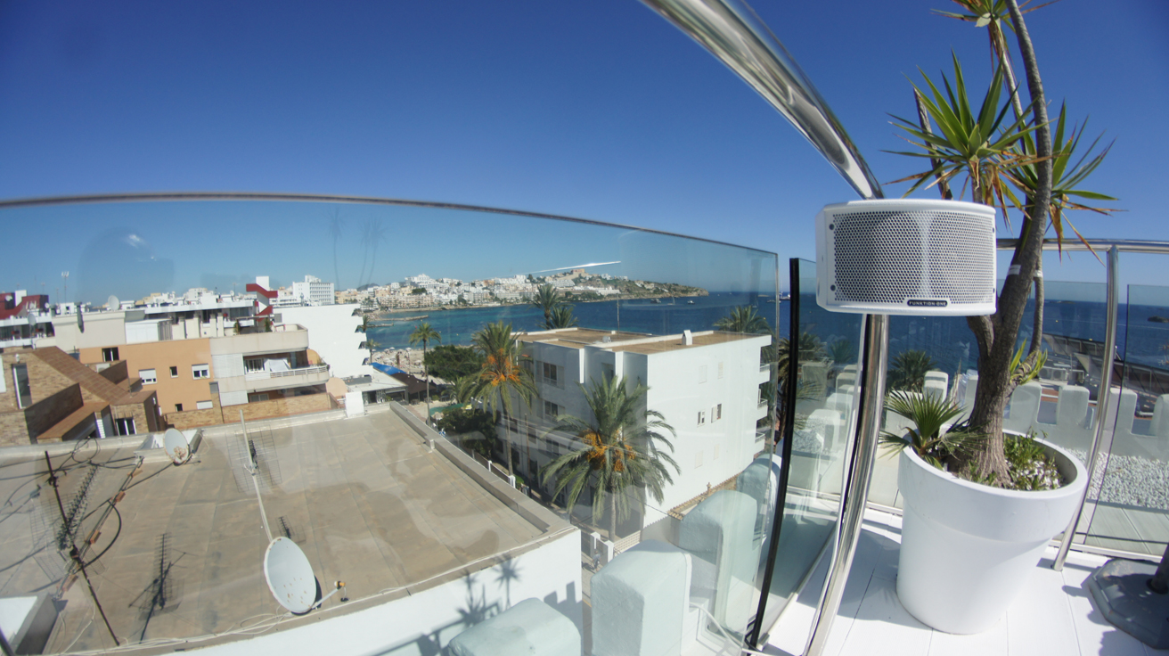 F55 speakers installed for rooftop at Hotel Es Vivre -  Ibiza